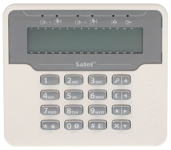 KEYPAD FOR ALARM CONTROL PANEL VERSA LCDM WH SATEL