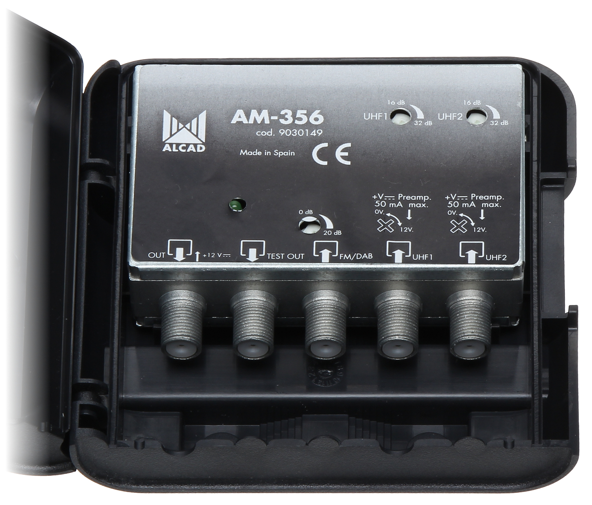 Antenna Amplifier Am 356 Dvb T Fm Dab Mast Amplifiers Delta Uhf Preamplifier With Closed Enclosure