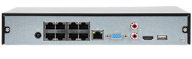 IP AUFNEHMER BCS NVR0801X5ME P II 8 KAN LE 8 PORT SWITCH POE