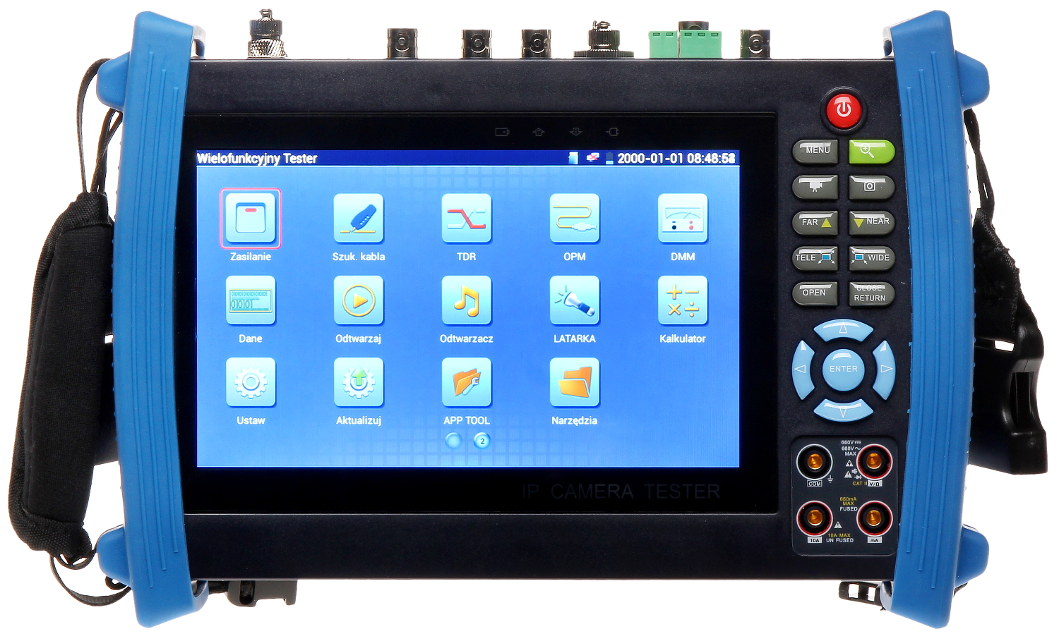 Multi Functional Cctv Tester Cs Hbf 72mq Video Testers With Lcd Ip Camera 7 Inch