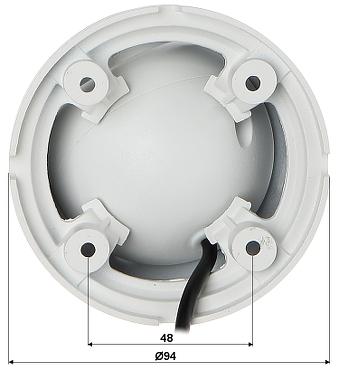 VANDALOODPORNA KAMERA HD CVI DH HAC HDW1400MP 036 0B 3 7 Mpx 3 6 mm DAHUA