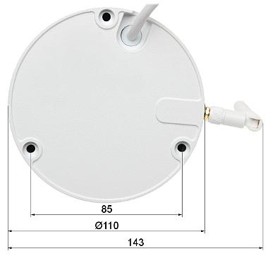 IP VANDALPROOF CAMERA DH IPC HDBW1235EP W 0280B Wi Fi 1080p 2 8 mm DAHUA
