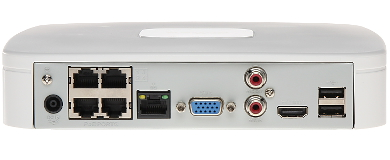 ENREGISTREUR IP NVR4104 P 4KS2 4 CANAUX SWITCH POE 4 PORTS DAHUA