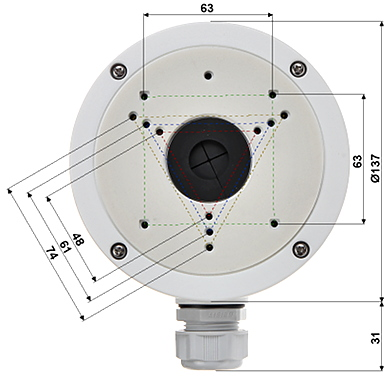 DOME CAMERA BRACKET DS 1280ZJ S Hikvision