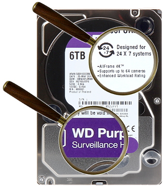 HDD FOR DVR HDD WD60PURZ 6TB 24 7 WESTERN DIGITAL