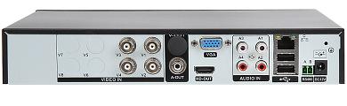AHD HD CVI HD TVI PAL TCP IP DVR HYBRO H416E 4 KAN LY