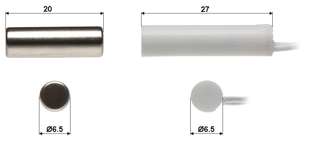 interrupteur cylindrique kn 02c contacts magn tiques cylindriques delta. Black Bedroom Furniture Sets. Home Design Ideas