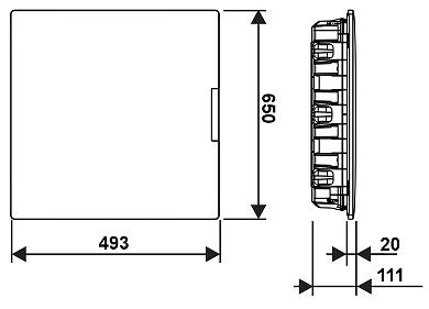 TABLOU ELECTRIC CU MONTAJ NGROPAT DE 54 MODULE LE 401758 Practibox3 LEGRAND