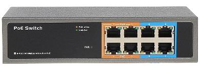 Switch PoE NX 084 CU 8 PORTURI