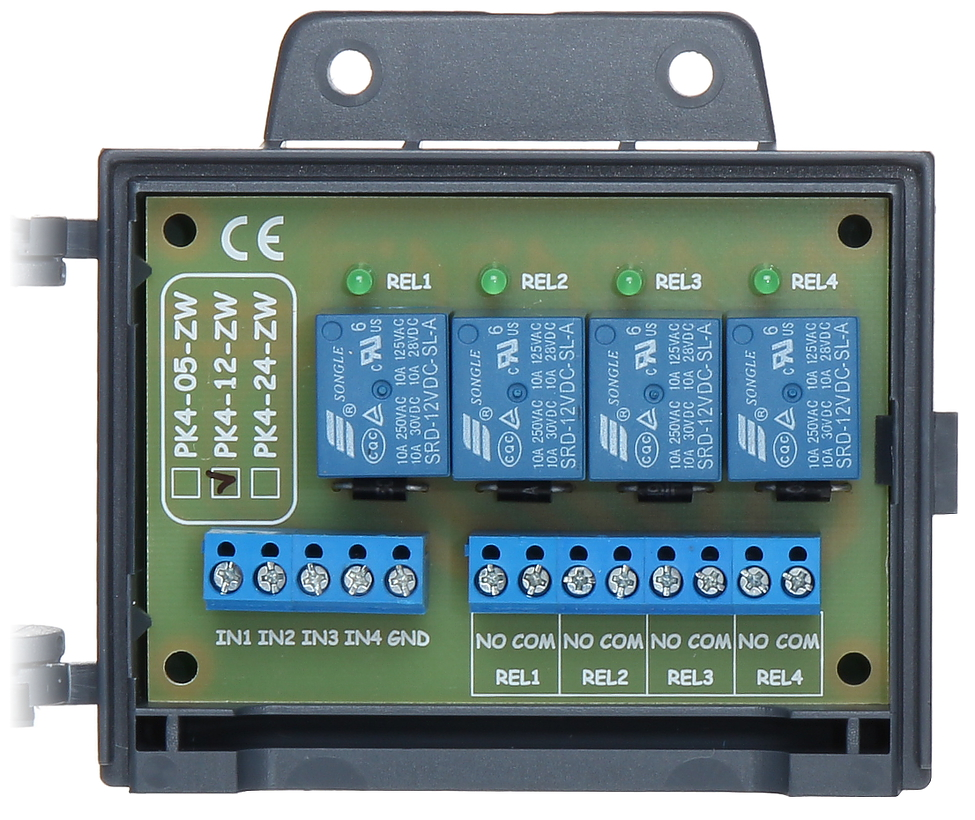 Normally Open Relay Module Pk4 12 Zw 12v Dc Delta Vs Closed