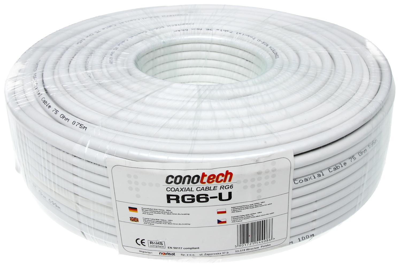 KONZENTRISCHES KABEL RG-6/U - Koaxialkabel 75 Ω für TV-SAT - Delta