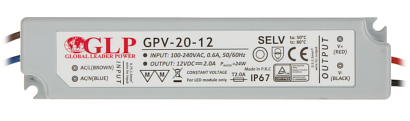 SWITCHING ADAPTER 12V 2A GPV