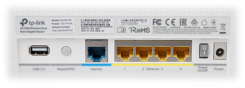 ROUTER ARCHER-C9 2 4 GHz, 5 GHz 600 Mb/s + 1300 Mb/s T    - Routers