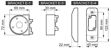 THE BODY OF THE MODULAR BRACKET FOR MOTION DETECTORS BRACKET E 1 GY SATEL