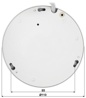 IP VANDALPROOF KAMERA IPC EB5531 5 0 Mpx 1 4 mm Ribje oko DAHUA