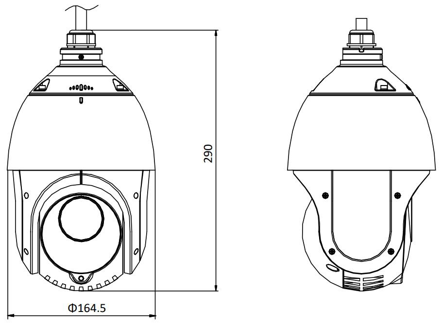 Ip Speed Dome Camera Outdoor Ds 2de4215iw Ded
