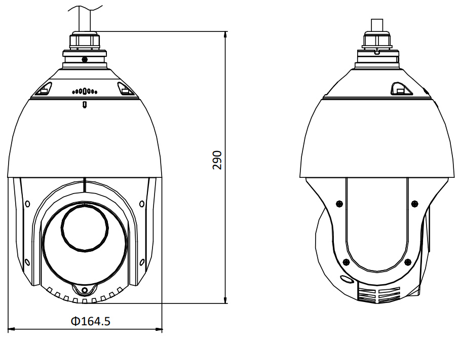 Ip Speed Dome Camera Outdoor Ds 2de4215iw De