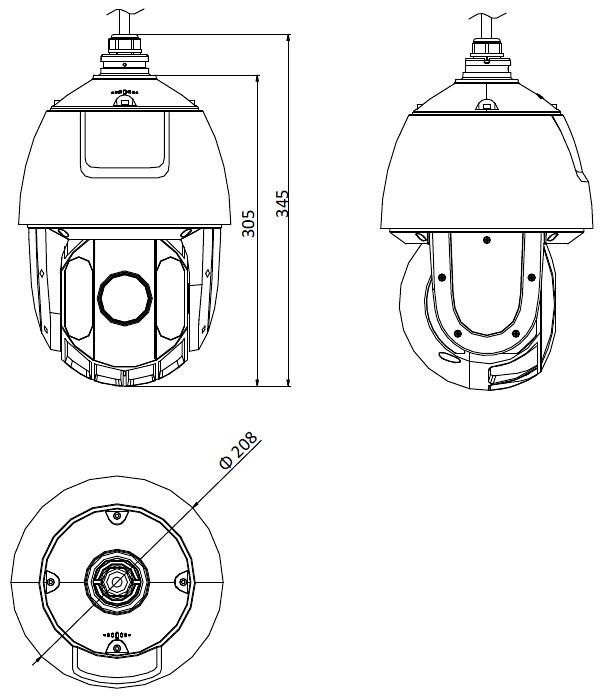 Ip Speed Dome Camera Outdoor Ds 2de5225iw Ae