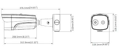 CAMER IP HIBRID CU TERMOVIZIUNE DS 2TD2637B 10 P 9 7 mm 720p 4 mm 4 Mpx Hikvision