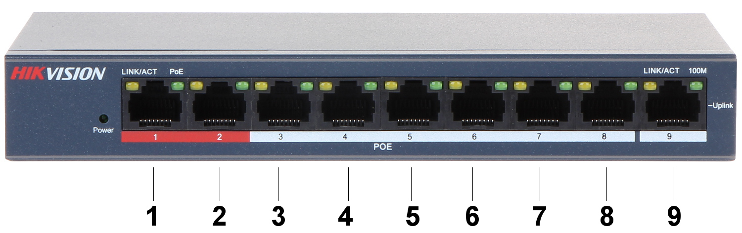 Image result for 8 Port PoE Switch DS-3E0109P-E/M