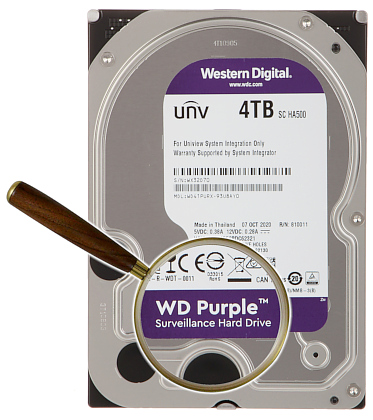 HDD FOR DVR HDD WD41PURX 4TB 24 7 WESTERN DIGITAL