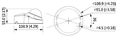VANDALOODPORNA KAMERA IP IPC HDBW3541F AS M 0280B 5 Mpx 2 8 mm DAHUA