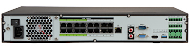 ENREGISTREUR IP NVR4416 16P I 16 CANAUX SWITCH POE 16 PORTS DAHUA