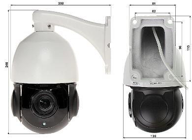 CAMER IP PTZ DE EXTERIOR OMEGA 21P22 6P 2 1 Mpx 1080p 3 9 85 5 mm