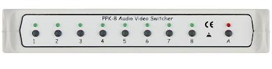 COMUTATOR AUDIO I VIDEO PPK 8