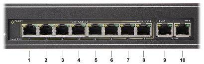 SWITCH PoE TO RACK CABINET RS 108 10 PORT PULSAR