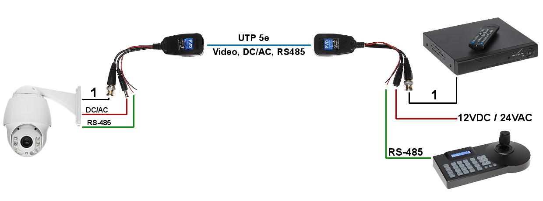 Video Balun Tr 1 Pvd P2 Video And Audio Transmission Power Sending Via Twist Delta