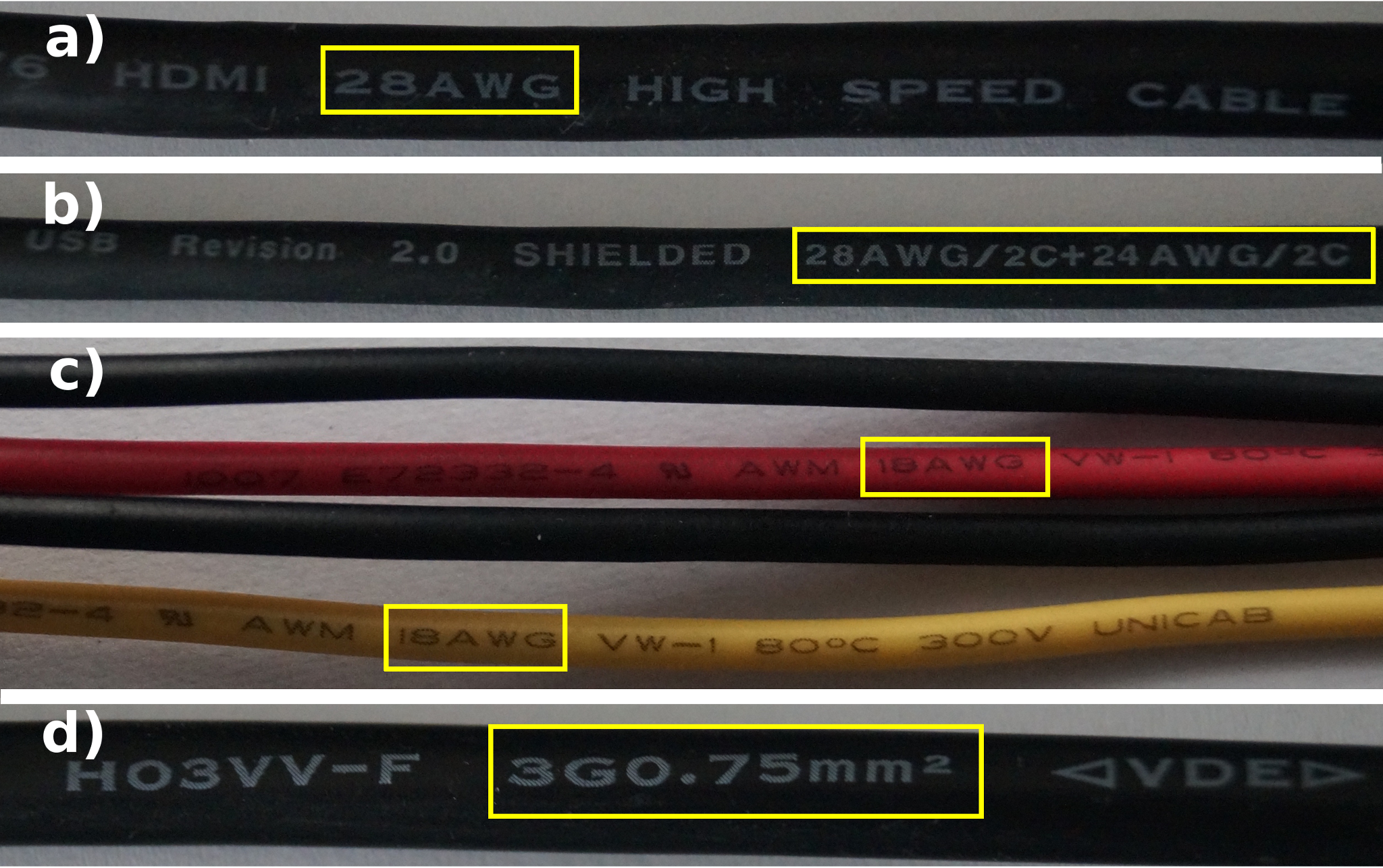 Example Wires Manufactured To Awg And Bs 67221986 Include A Hdmi B Usb C 5 V And 12 V Cables From Power Supply To Pc D Power Supply Cable With