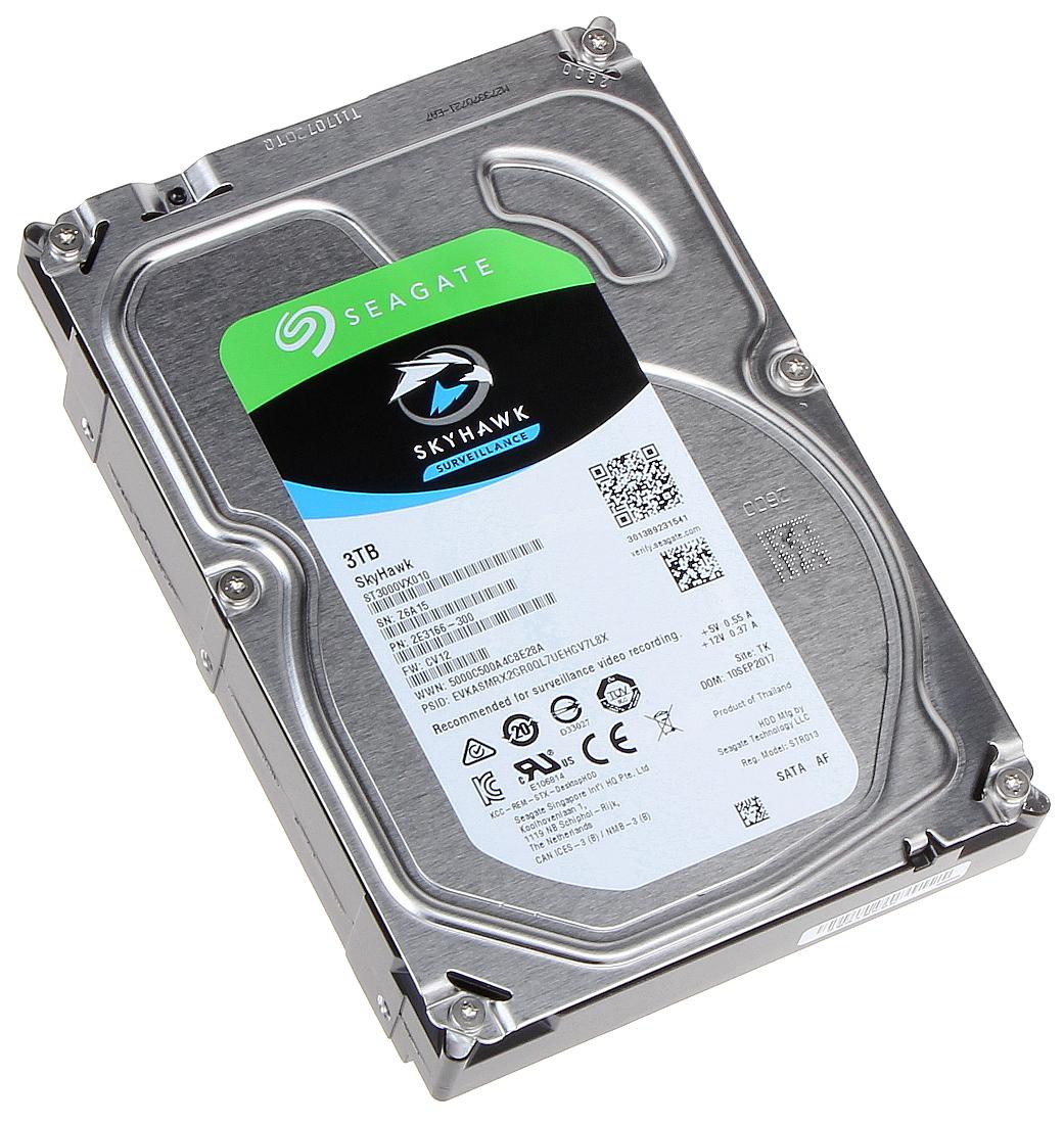 HDD FOR DVR HDD-ST3000VX010 3TB 24/7 SKYHAWK Seagate