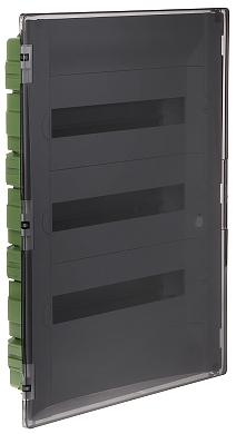 Quadro elettrico da incasso a 54 moduli le 401758 prac for Quadro esterno 72 moduli