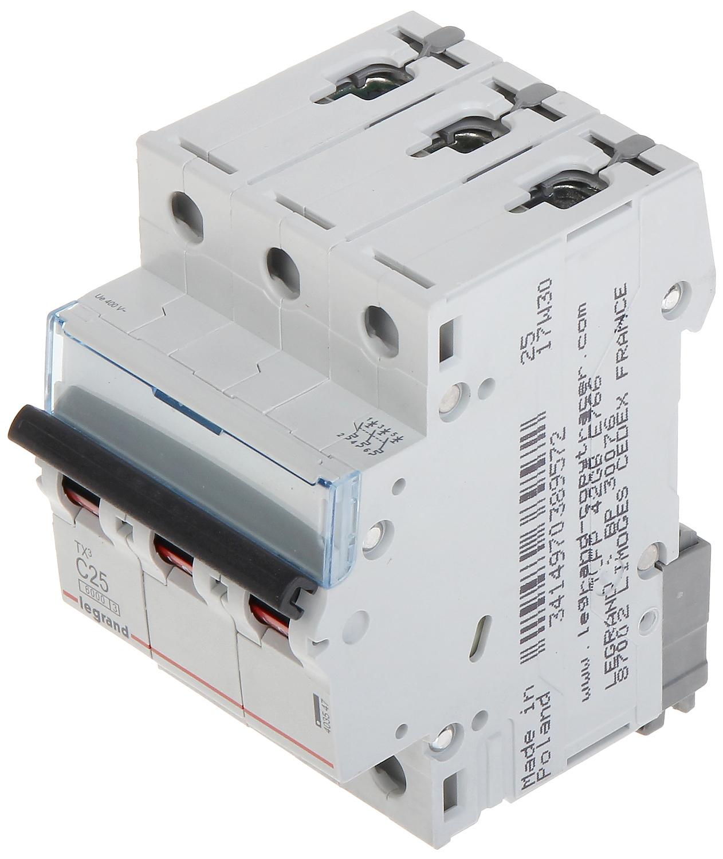 Circuit Breaker Le 403547 Three Phase 25 A C Type Legr Image Legrand