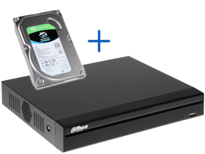 PROMOTIONAL SET NVR HDD NVR4104HS 4KS2 1TB 4 CHANNELS DAHUA