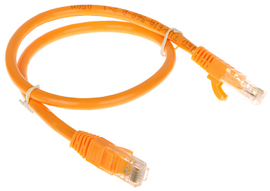 PATCHCORD RJ45 6 0 5 ORANGE 0 5 m